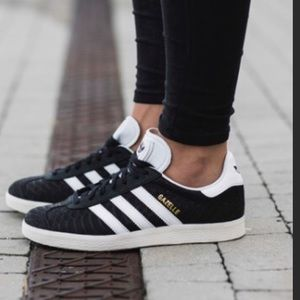 Adidas Gazelle Black Suede Sneakers 7.5